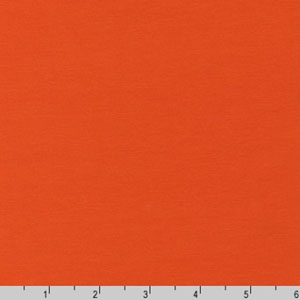 Laguna Solid Cotton Knit Jersey Orange Fabric