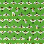 Bright and Buzzy Bee Green Fabric