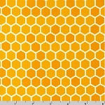 Bright Buzzy Bee Honeycomb Fabric