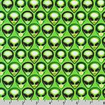 Area 51 Green Alien Acid Fabric
