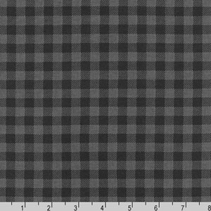 Burly Beavers Plaid Print on Charcoal Fabric