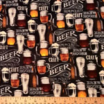 Beer House Black Fabric