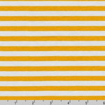 Blake Cotton Jersey Knit Yellow Silver Stripe Fabric