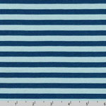 Blake Cotton Jersey Knit Blue Stripe Fog Fabric
