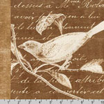 Botanical Beauty Panel Natural Brown Fabric