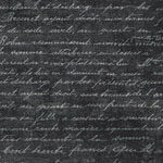 Botanical Beauty Handwriting Smoke Black Fabric