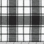 Brooklyn Plaid Flannel Black Fabric