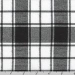 Brooklyn Plaid Flannel Black Fabric