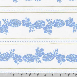 Catalina Knit Print Tropical Print Blue Fabric