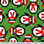 Jingle 2 Christmas Penguins Holiday Fabric