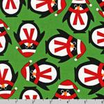 Jingle 2 Christmas Penguins Holiday Fabric