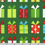 Jingle Christmas Gift Packages on Green Fabric