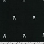 Corduroy Embroideries 21 Wale Skull Black Fabric