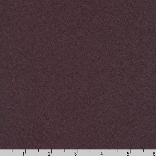 Dana Cotton Modal Knit Dark Plum Purple Fabric