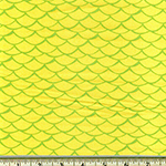 Flamingo Paradise Mermaid Scale Fabric Lime