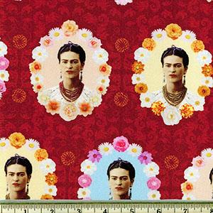 Frida Kahlo Red Fabric