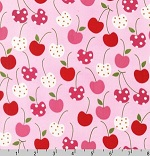 Metro Market Cherries Pink Fabric
