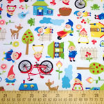 Gnome Living Village Cream Fabric