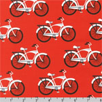 Gnome Living Bicycles Red Fabric