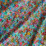 Happy Place Jersey Knit Fabric Floral Rainbow