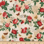 Heirloom Diary Rose Cluster Antique Fabric