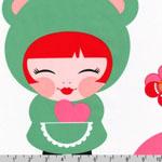 Hello Tokyo Kokeshi Dolls 23 Inch Panel Fabric