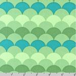 Hello Tokyo Scallop Aqua Fabric