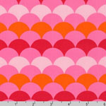 Hello Tokyo Scallop Pink Fabric