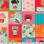 Hello Tokyo Japanese Quilt Square Fabric