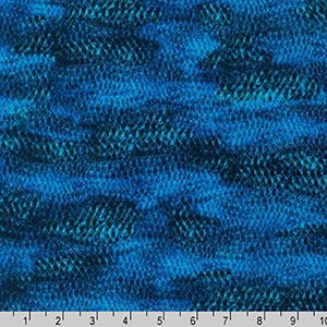 Imaginings Fish Scales Marine Blue Fabric