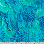 Imaginings Bird Feather Wings in Tropical Blue Fabric