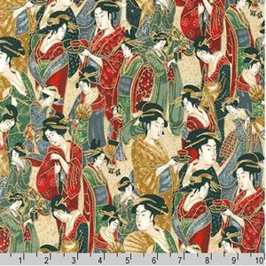 Imperial Collection Geisha Crimson Fabric