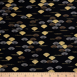 Imperial Collection Fans Black Fabric