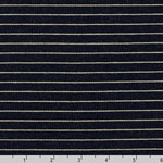 Indigo Knit Stripe Blue Fabric