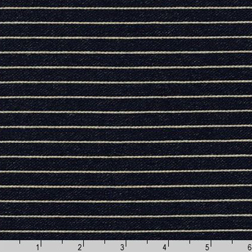 Indigo Knit Stripe Blue Fabric