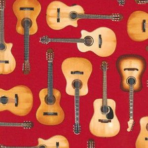 In Tune Acoustic Guitars Red Fabric