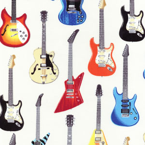 In Tune Electric Guitars Ivory Fabric