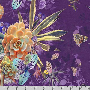 Kyoto Rayon Yoryu Purple Fabric