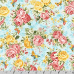 Lady Elizabeth Rose Floral Spring Fabric