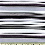 Laguna Jersey Prints Stripe Gray Black Knit Fabric