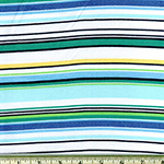 Laguna Jersey Prints Stripe Marine Knit Fabric