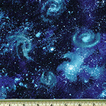 Laguna Jersey Prints Space Star Nightfall Fabric