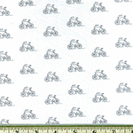 London Calling 7 Bicycle Lawn Fabric