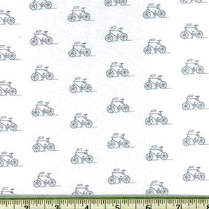 London Calling 7 Bicycle Lawn Fabric