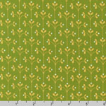 Little Kukla Meadow Chartruese Fabric