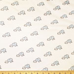 Little Safari Knit Elephant and Baby Blue Yonder Fabric