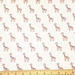 Little Safari Knit Giraffe Pink Fabric