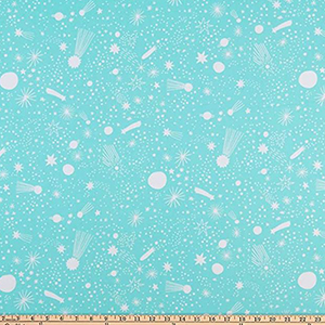 Magical Rainbow Unicorn Star Mint Fabric