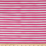 Magical Rainbow Unicorn Pink Stripe Fabric