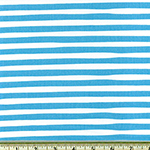 Magical Rainbow Unicorn Stripe Blue Fabric